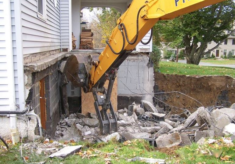 Demolition on a house